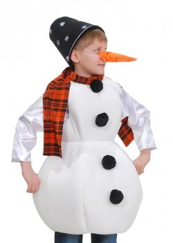 Снеговика с морковкой